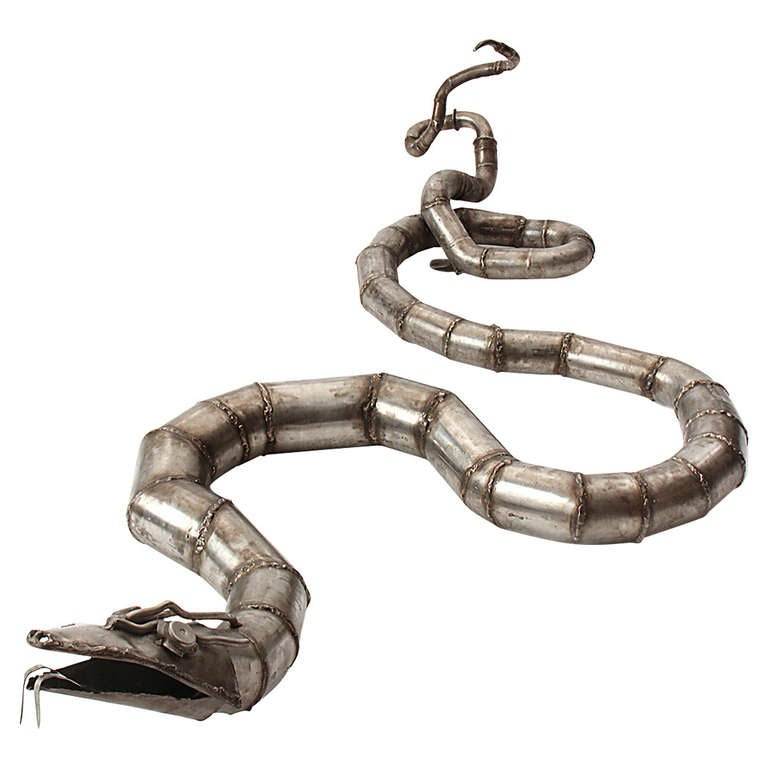 Steel Snake sculpture 1