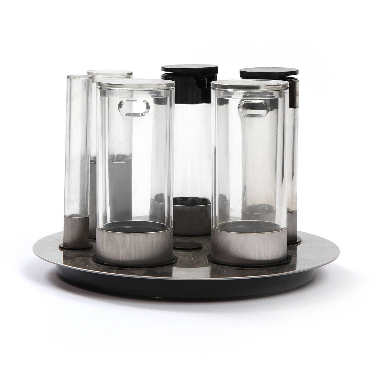Italian Revolving Condiments Tray by Cini and Nils For Sale