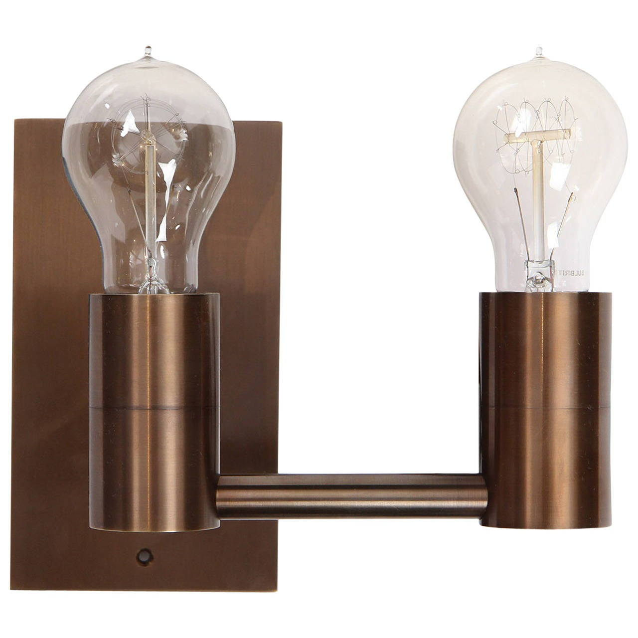 Wall Sconces Double : Double Arm Wall Sconce by Wyeth For Sale at 1stdibs