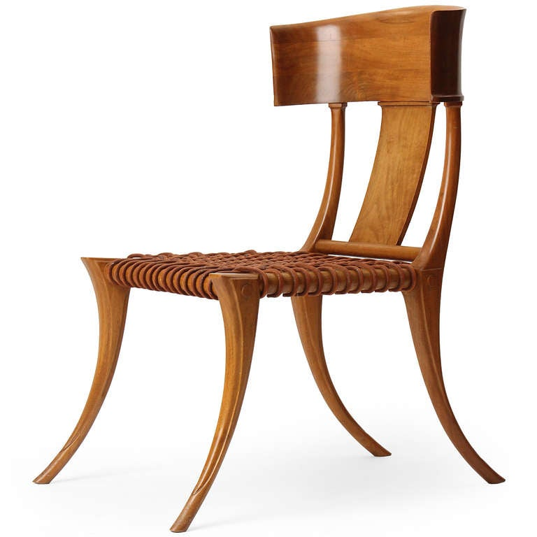 Klismos chair by t h robsjohn gibbings at 1stdibs for H furniture loom chair