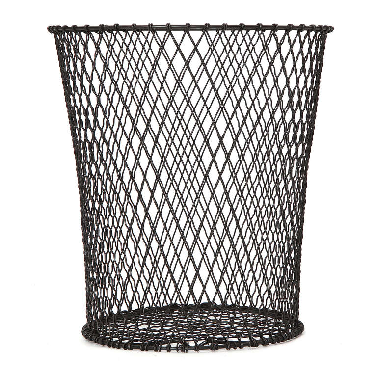 Waste Paper Baskets woven wire waste paper basket for sale at 1stdibs
