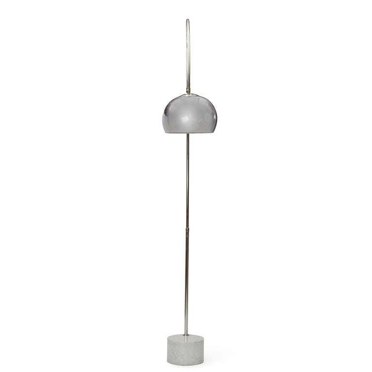 italian arc floor lamp for sale at 1stdibs. Black Bedroom Furniture Sets. Home Design Ideas