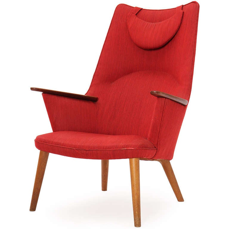 High Back Lounge Chair By Hans J Wegner At 1stdibs
