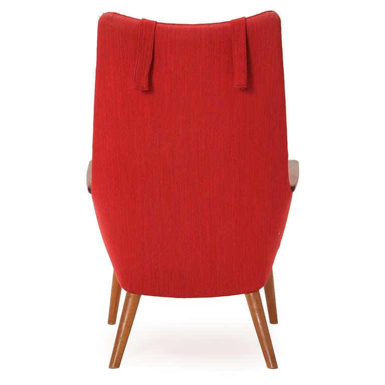 High Back Lounge Chair by Hans J Wegner For Sale at 1stdibs