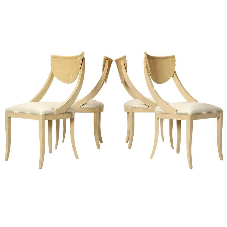 Decorative light wood dining chairs for sale at 1stdibs for Decorative items for dining room