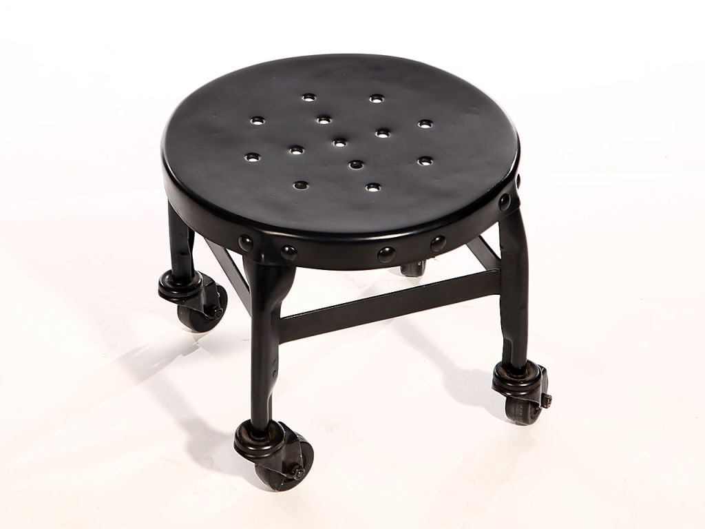 Steel Stool By Uhl Toledo At 1stdibs