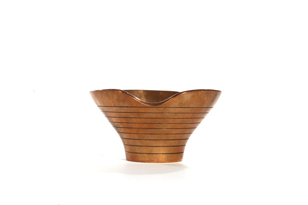 Copper And Brass Bowls By Paavo Tynell At 1stdibs