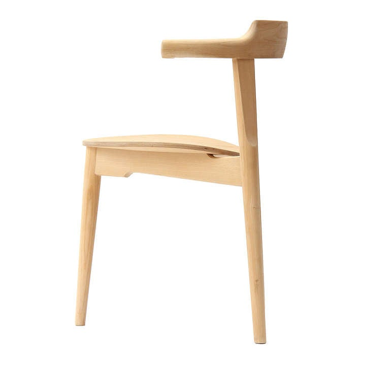 Stackable Three-Legged Chair by Hans J. Wegner In Excellent Condition For Sale In New York, NY