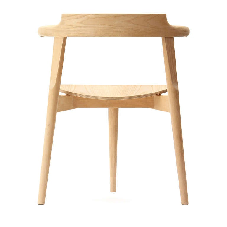 Oak Stackable Three-Legged Chair by Hans J. Wegner For Sale