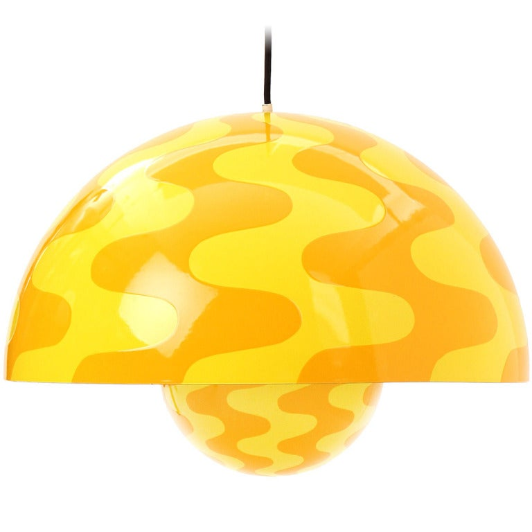 Op-Art Pendant by Verner Panton For Sale