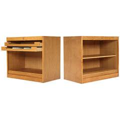 Oak Tambour Cabinet by Hans J. Wegner