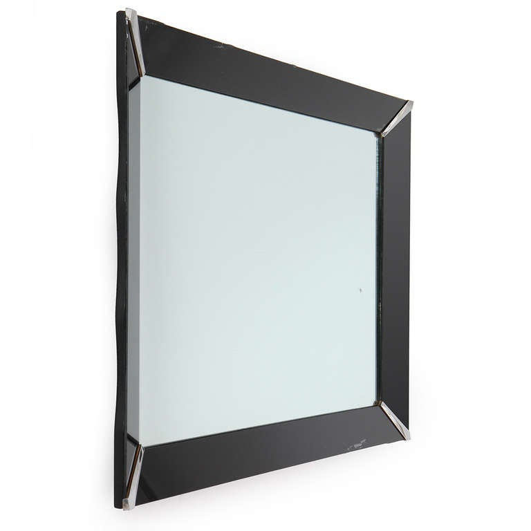 Mid-Century Modern Art Deco Wall Mirror For Sale