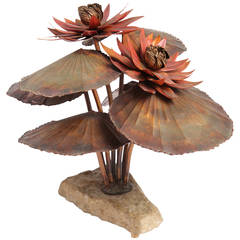 Water Lilly Sculpture by Steck