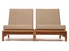 Low Oak Lounges by Hans Wegner