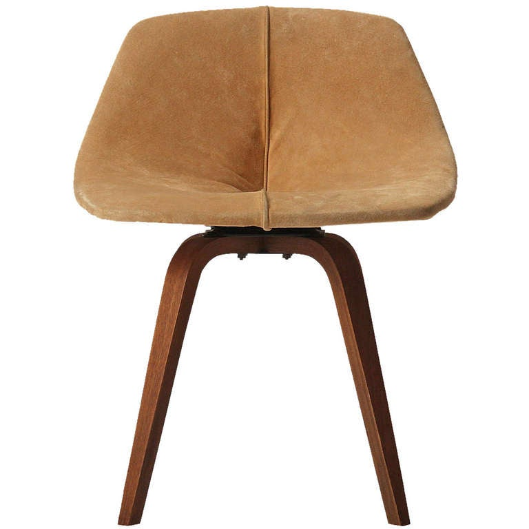 Vanity stool by george mulhauser at 1stdibs - Swivel vanity stool with back ...