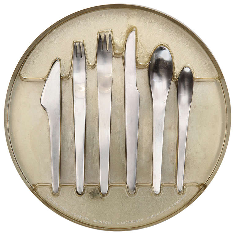 Stainless flatware by arne jacobsen at 1stdibs - Arne jacobsen flatware ...