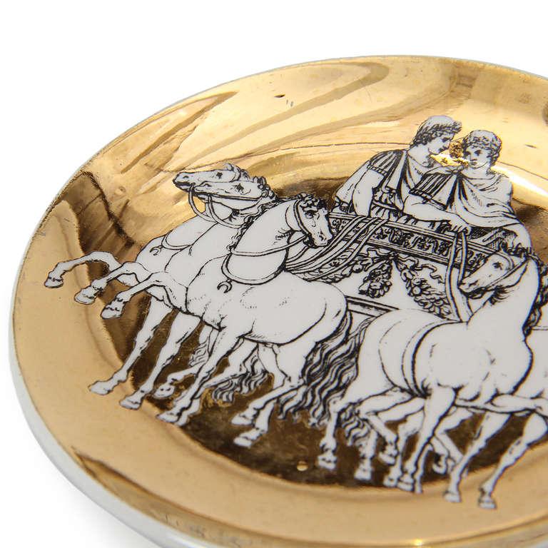 Ceramic Greco-Roman Coasters by Piero Fornasetti For Sale