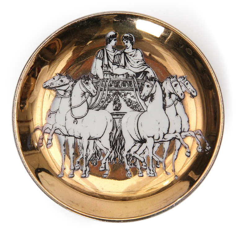 Greco-Roman Coasters by Piero Fornasetti In Good Condition For Sale In New York, NY