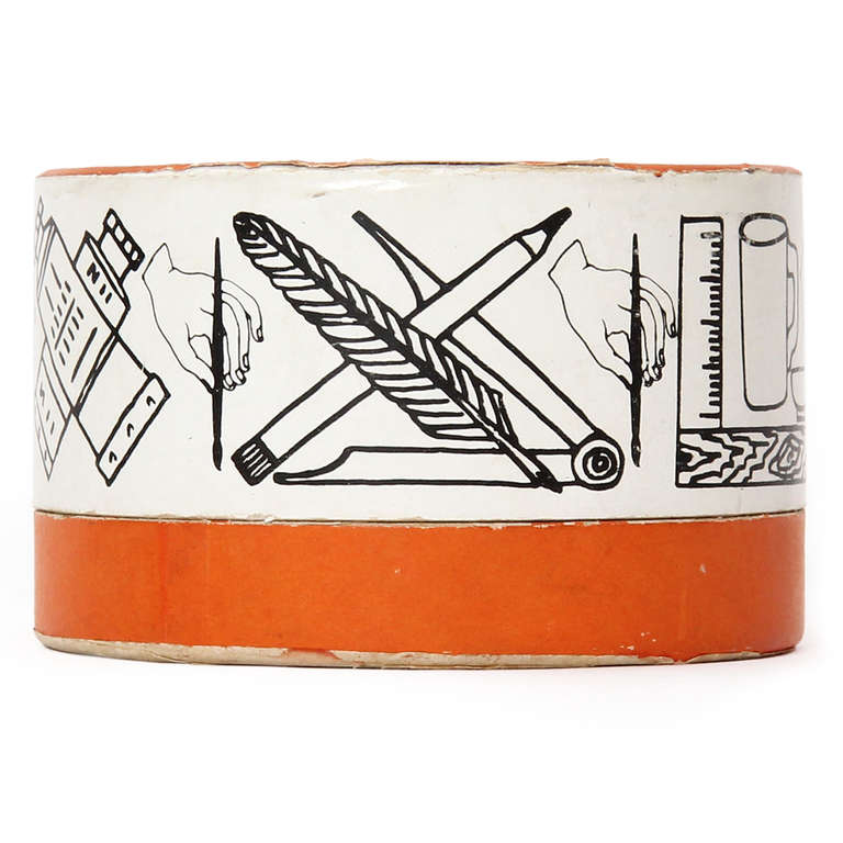 Greco-Roman Coasters by Piero Fornasetti For Sale 1