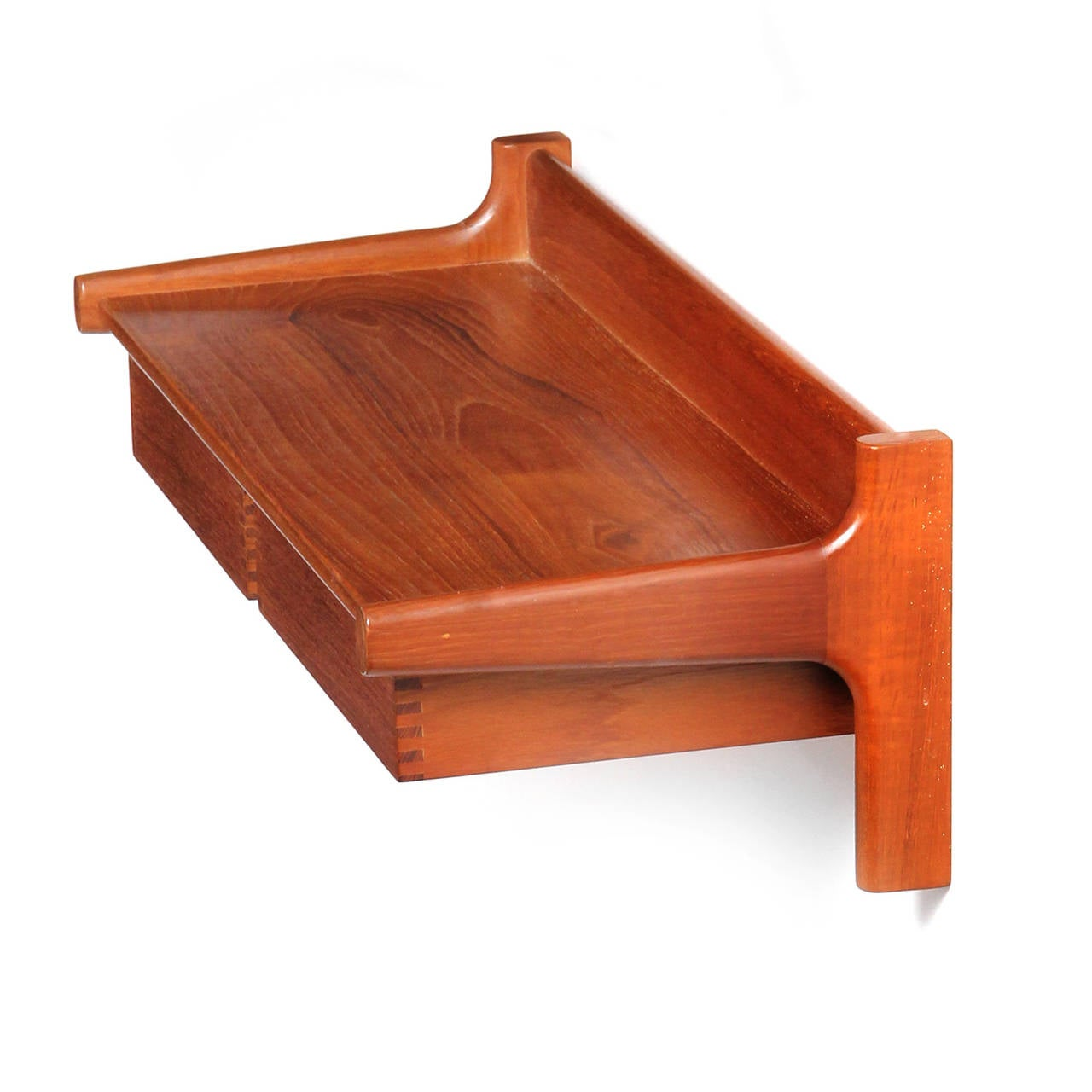 Wall Mount Shelf With Floating Drawers At 1stdibs