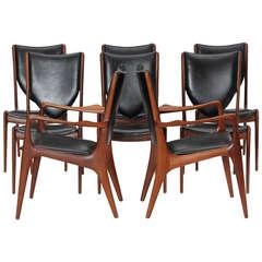 Set of 12 Dining Chairs by Vladimir Kagan