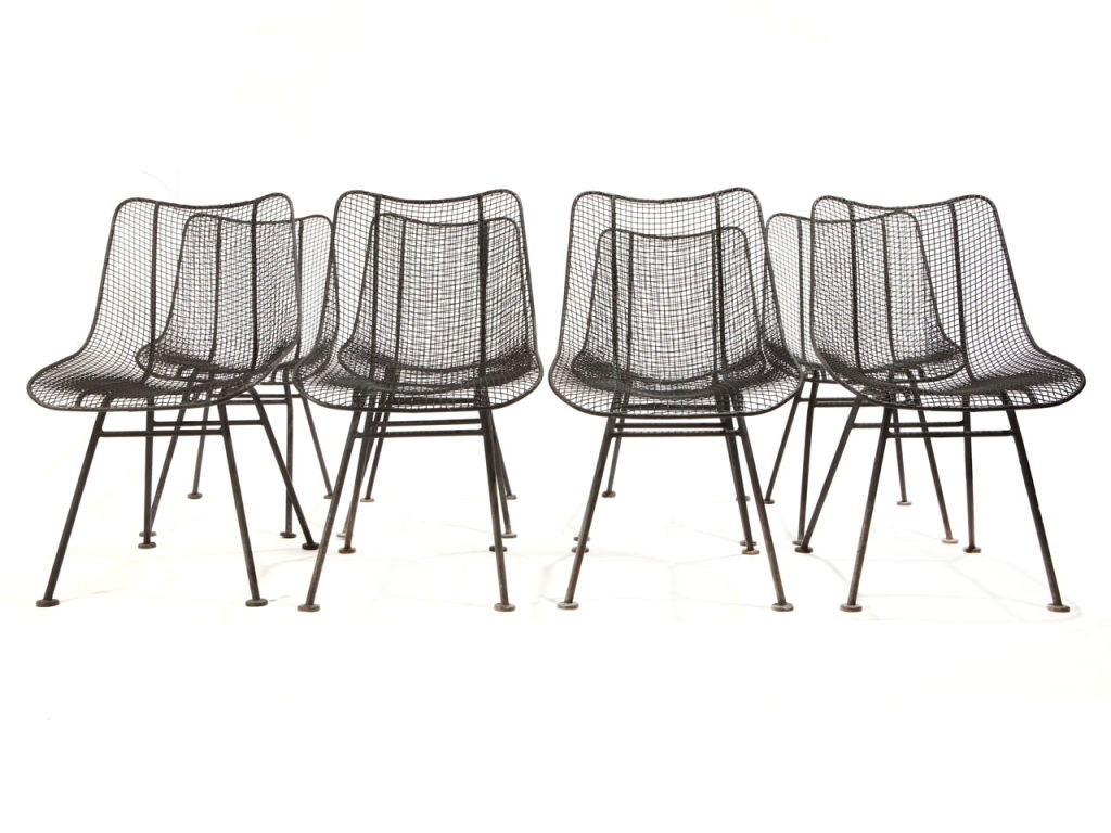A Wire Mesh Dining Chair For Indoor Or Outdoor Use. Black Finish. Only 4