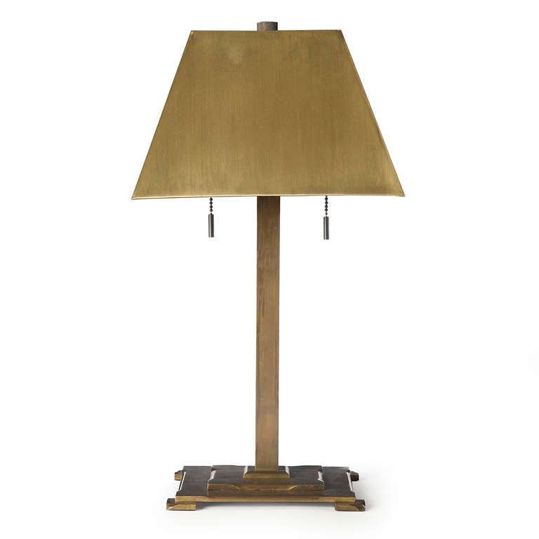 Bronze arts and crafts table lamps at 1stdibs for Arts and crafts light