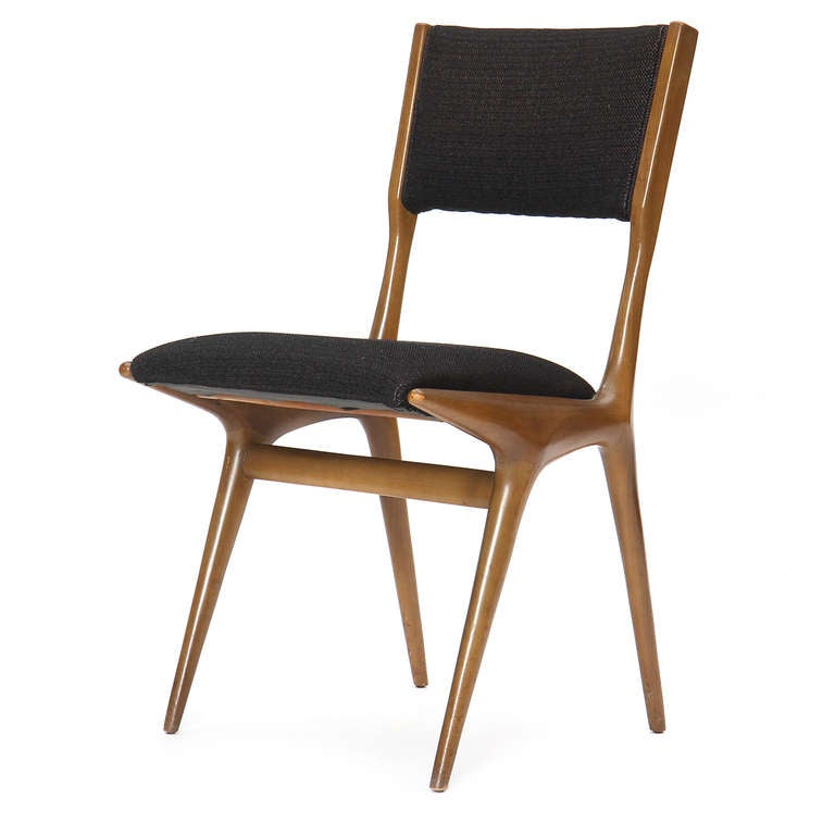 Mid-Century Modern Set of Four Dining Chairs by Carlo di Carli For Sale