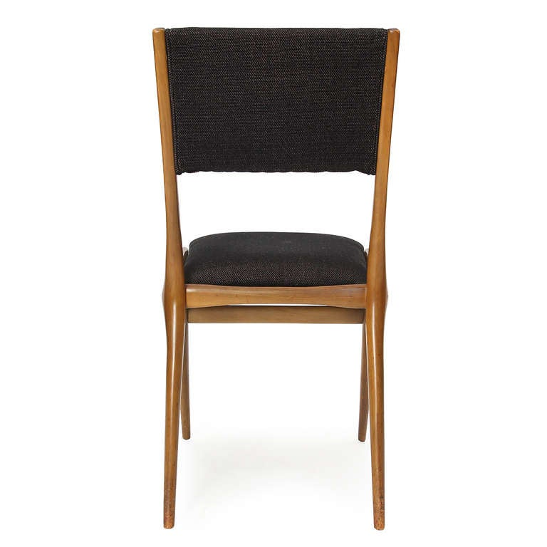 Upholstery Set of Four Dining Chairs by Carlo di Carli For Sale