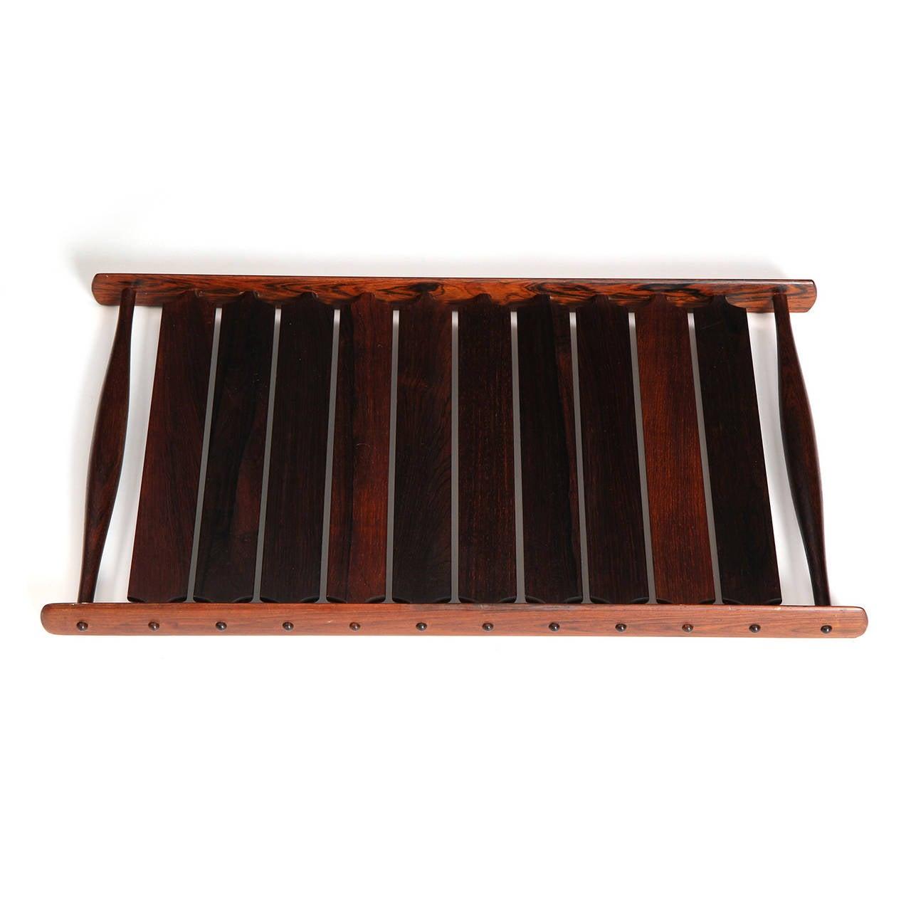 Scandinavian Modern Slatted Rosewood Tray by Jens Quistgaard For Sale