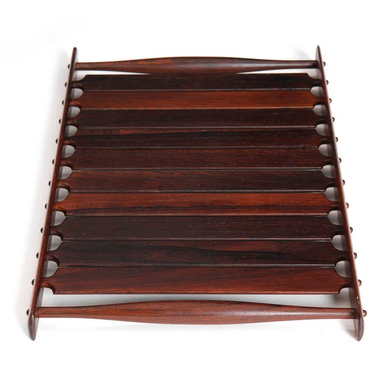 Danish Slatted Rosewood Tray by Jens Quistgaard For Sale