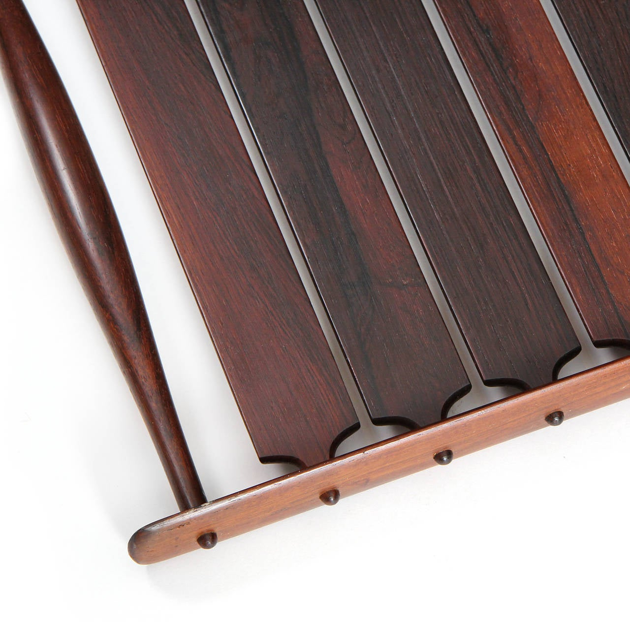 Slatted Rosewood Tray by Jens Quistgaard In Excellent Condition For Sale In Sagaponack, NY