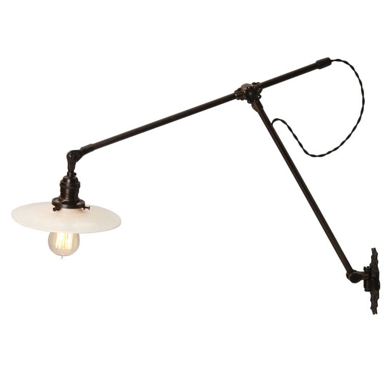 Wall Mounted Industrial Lamp : Industrial Wall-Mounted Lamp By O.C. White at 1stdibs