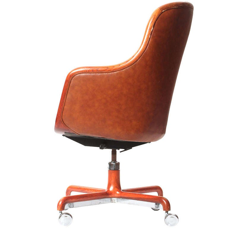 executive highback desk chair by ward bennett for sale at 1stdibs