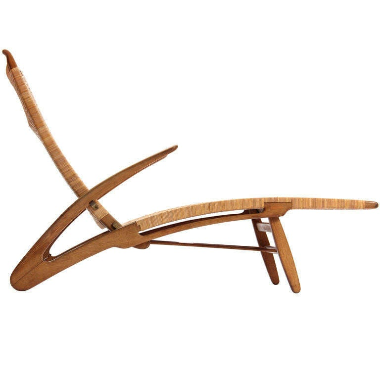 the dolphin chaise by hans wegner at 1stdibs