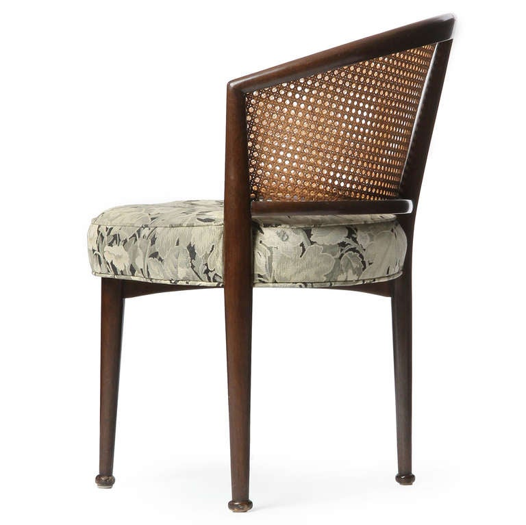 Mid-20th Century Set of Six Cane Back Dining Chairs by Edward Wormley For Sale