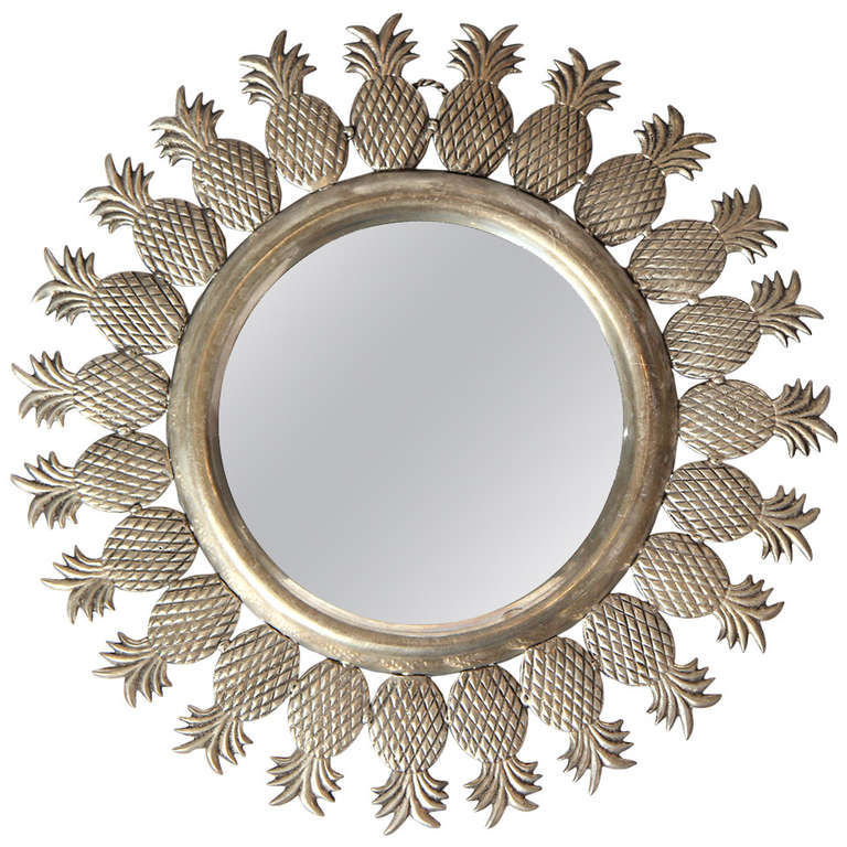 Pineapple Wall Mirror At 1stdibs