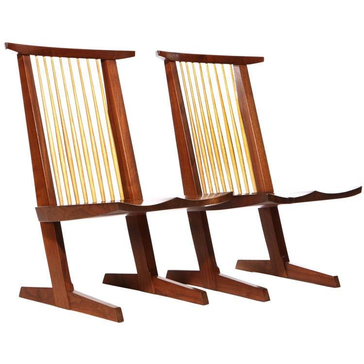 Conoid Lounge Chairs By Mira Nakashima At 1stdibs