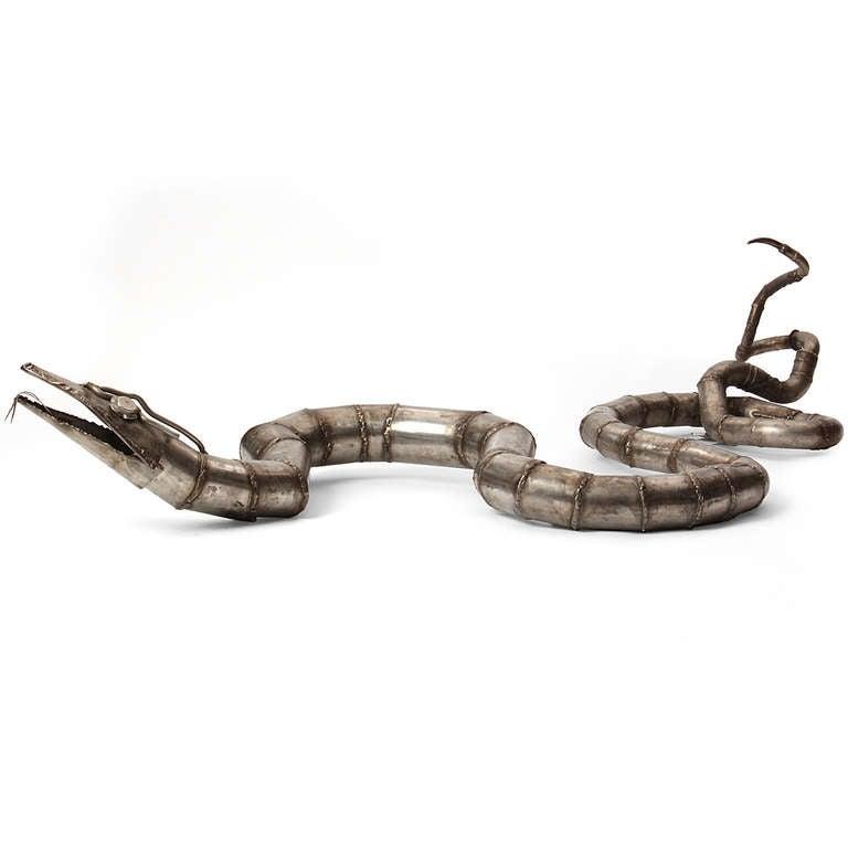Steel Snake sculpture 3