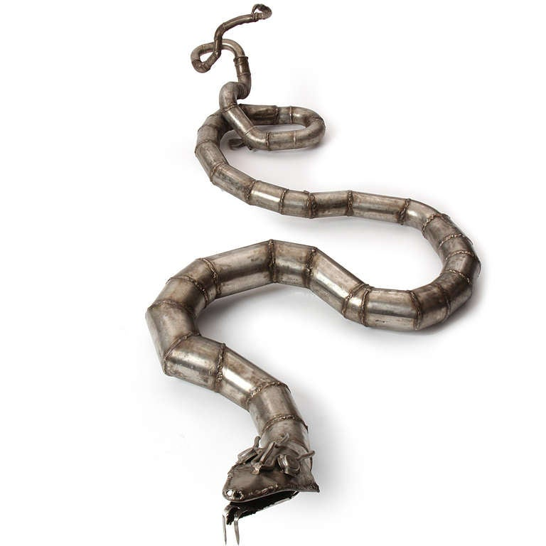 Steel Snake sculpture 5