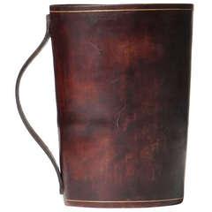 Handled Leather Mug