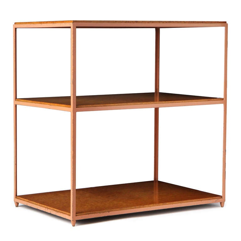 Burl Birch Shelf Unit For Sale 2