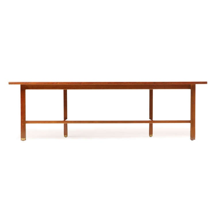 American Asymmetrical Coffee Table by Edward Wormley For Sale