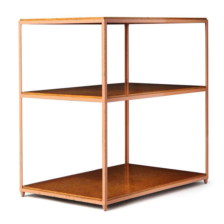 Mid-20th Century Burl Birch Shelf Unit For Sale