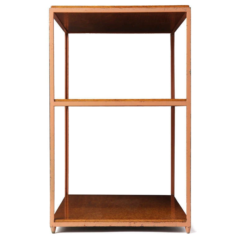 Burl Birch Shelf Unit In Good Condition For Sale In New York, NY