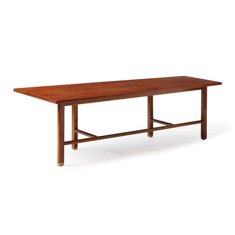 Asymmetrical Coffee Table by Edward Wormley For Sale 1