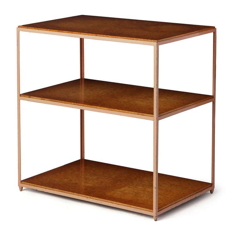 American Burl Birch Shelf Unit For Sale