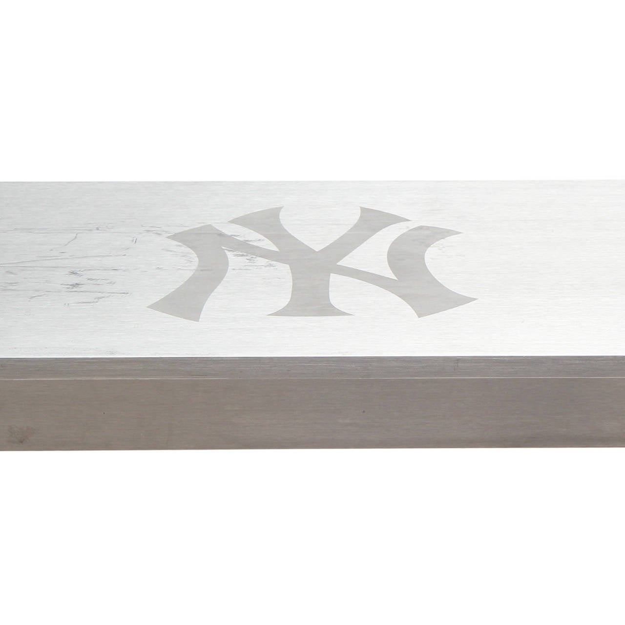Industrial 1980s Minimalist Steel Table from Yankee Stadium For Sale
