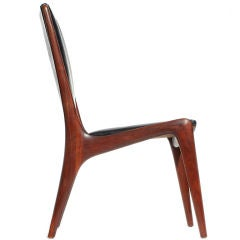 Shield Back Walnut Chairs by Vladimir kagan