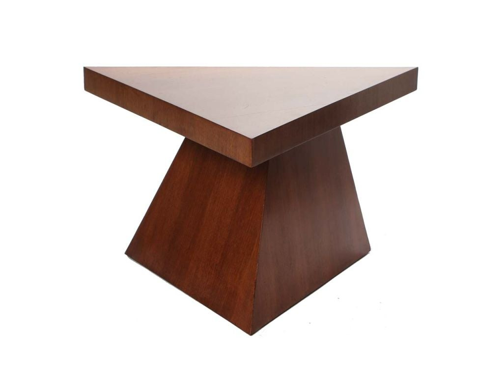 Triangle table by edward wormley at 1stdibs Www wooden furniture com